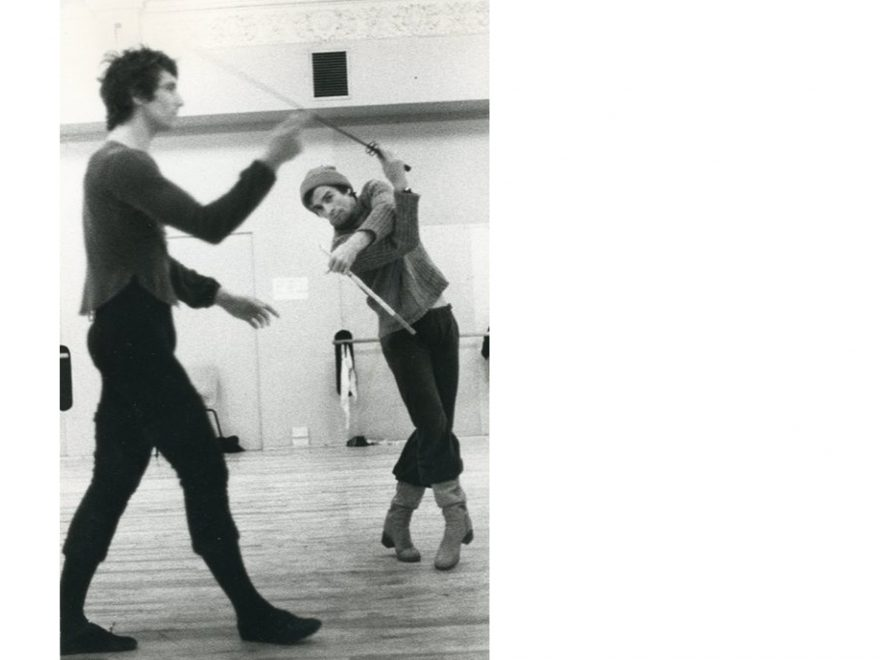 Frédéric Jahn and Rudolf Nureyev in rehearsals for Romeo and Juliet (c) Dominic Photography 2500x1514