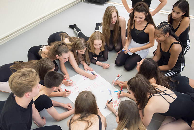 ENBYouthCo working as a group for the 'Complete Dancer' © Photography by ASH