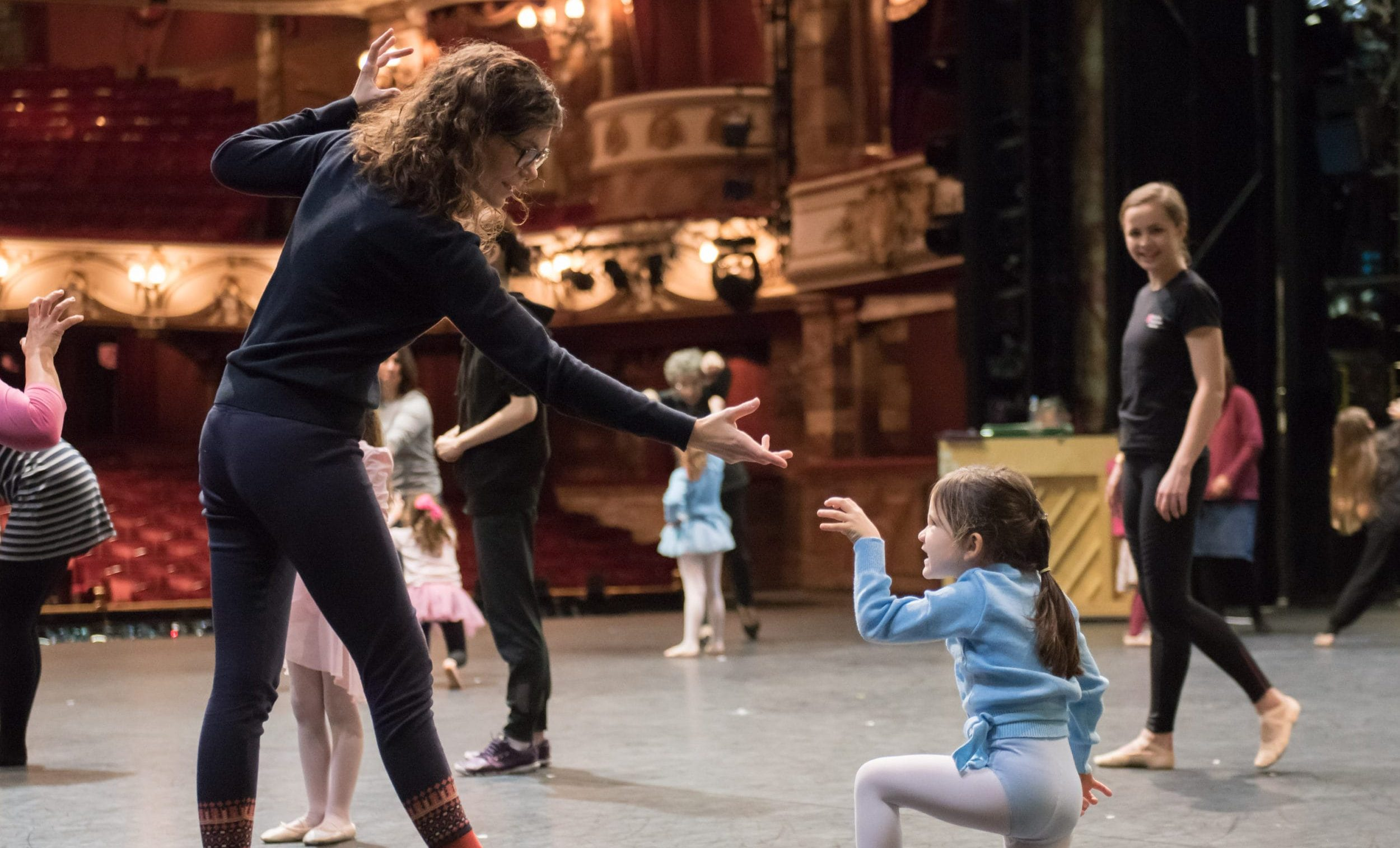 English National Ballet family dance workshop