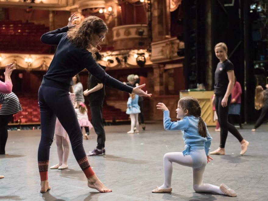 English National Ballet family dance workshop