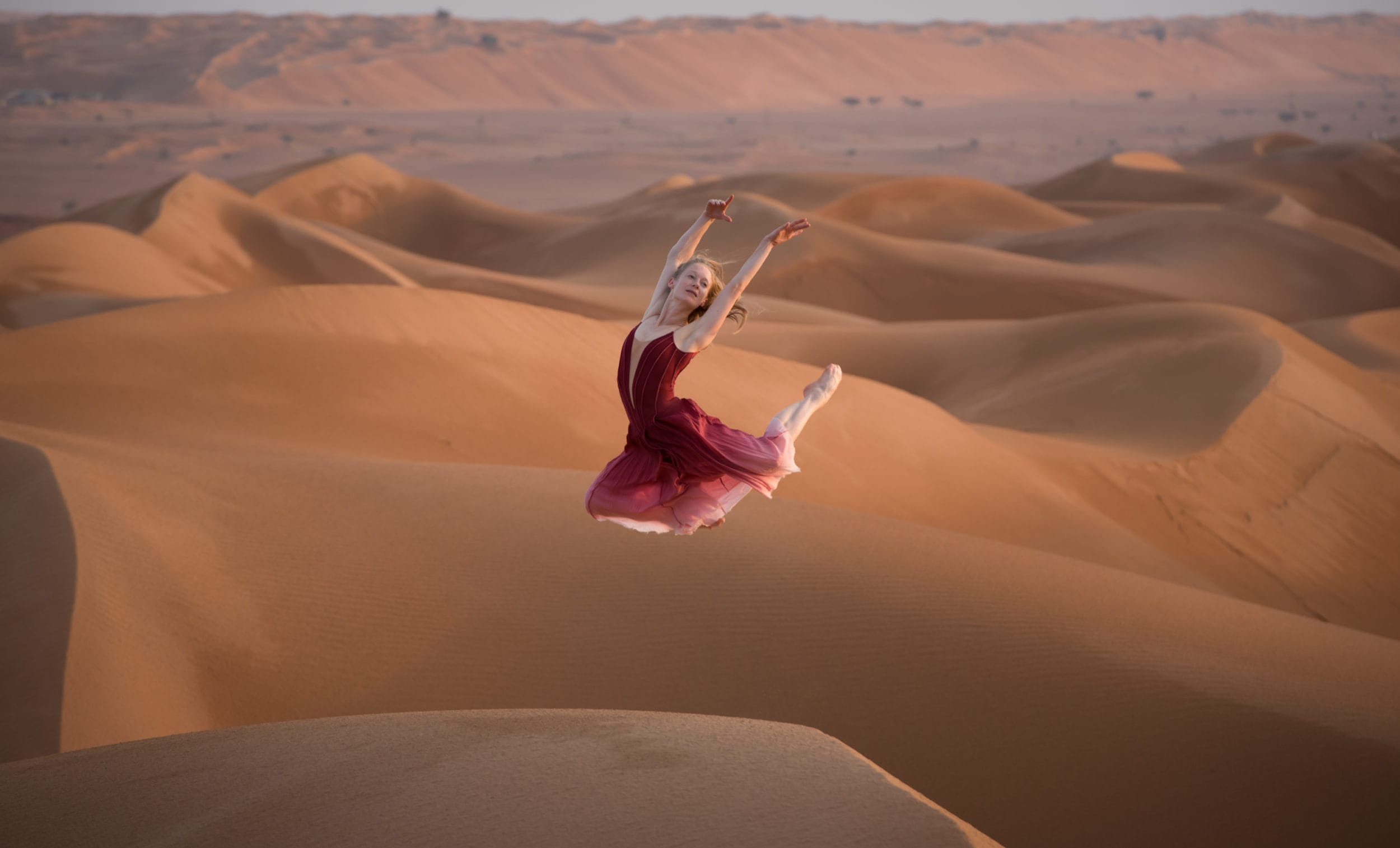Amber Hunt photographed on tour in Oman © Photography by ASH