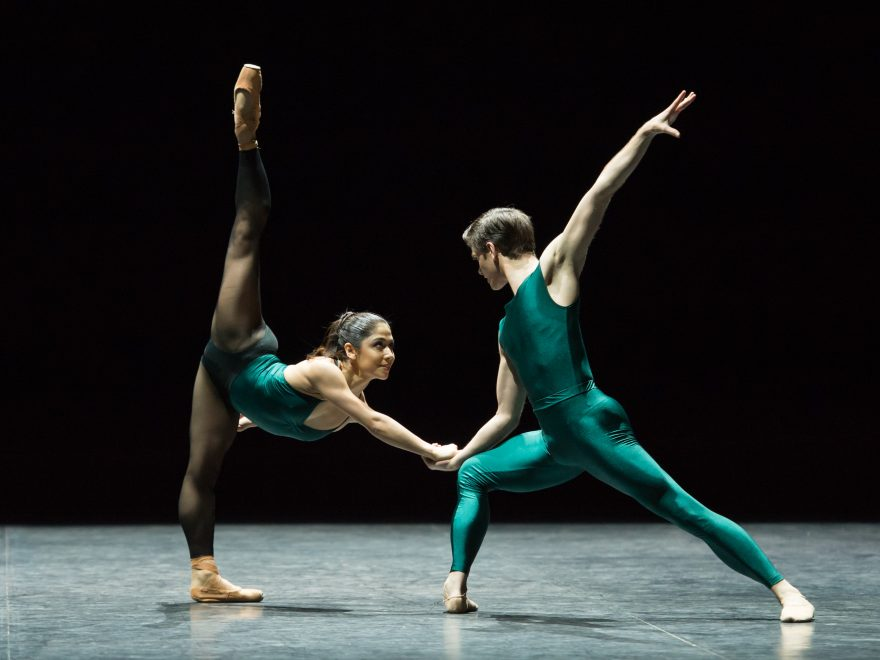 William Forsythe's In the Middle, Somewhat Elevated during English National Ballet's dress rehearsal for their Modern Masters triple bill