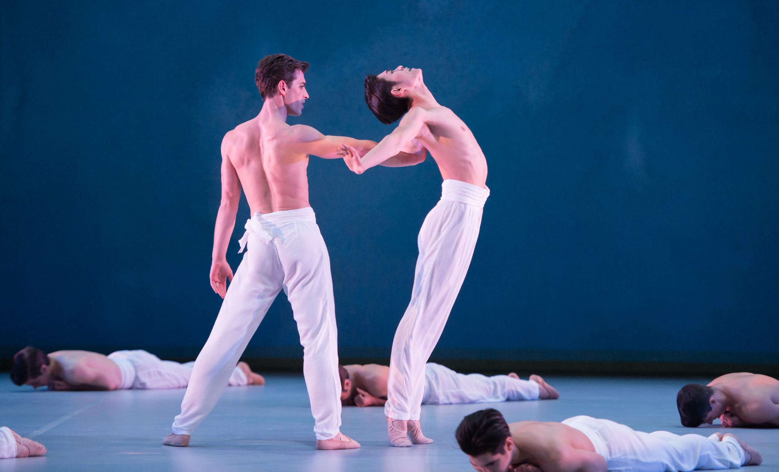 John Neumeier's Spring & Fall during English National Ballet's dress rehearsal for their Modern Masters triple bill