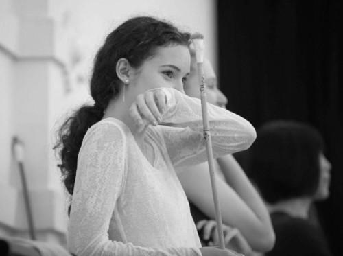 Francesca Velicu in rehearsal for Akram Khan's Giselle © Amber Hunt