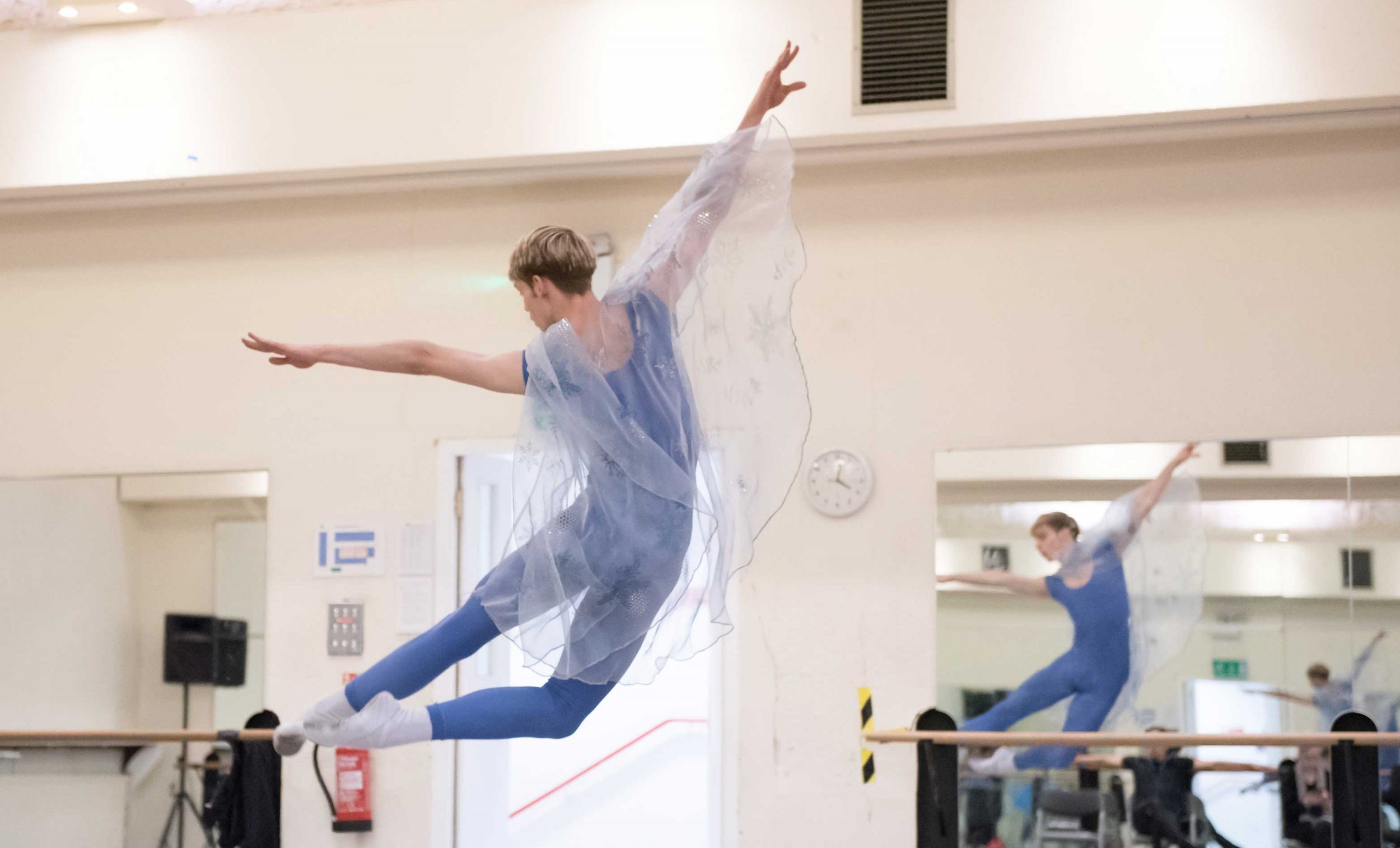 James Hobley in rehearsals for My First Ballet: Cinderella © Photography by ASH