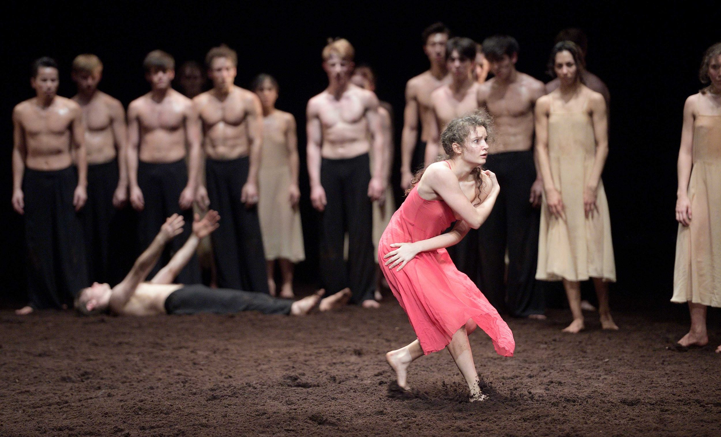 rancesca Velicu in Pina Bausch's Le Sacre du printemps by English National Ballet