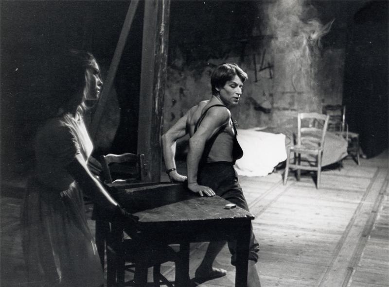 Jean Babilée and Nathalie Philippart in Le Jeune Homme et la Mort 1946