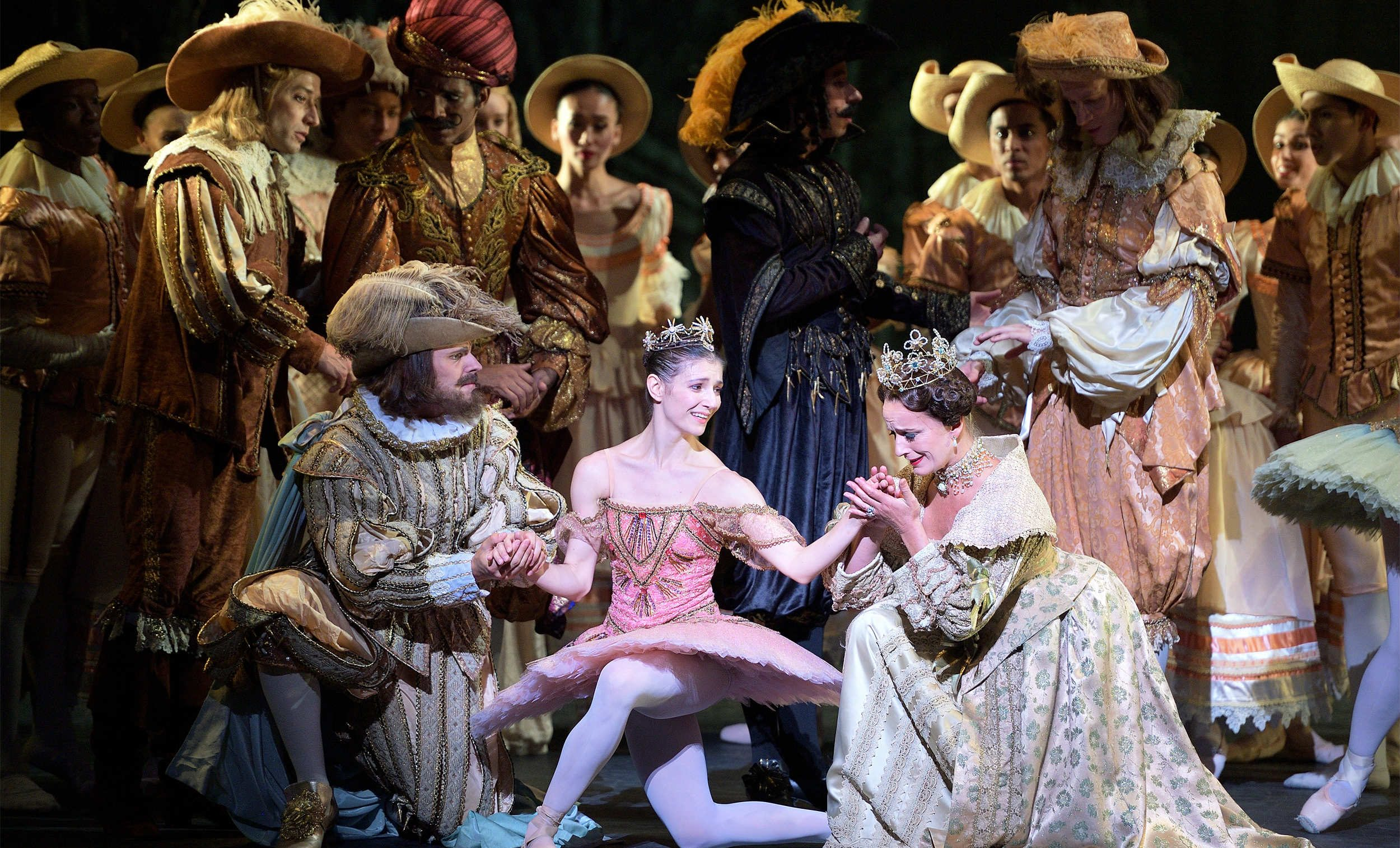 WEBSITE - Grant Rae, Alina Cojocaru and Jane Haworth in The Sleeping Beauty (c) Laurent Liotardo