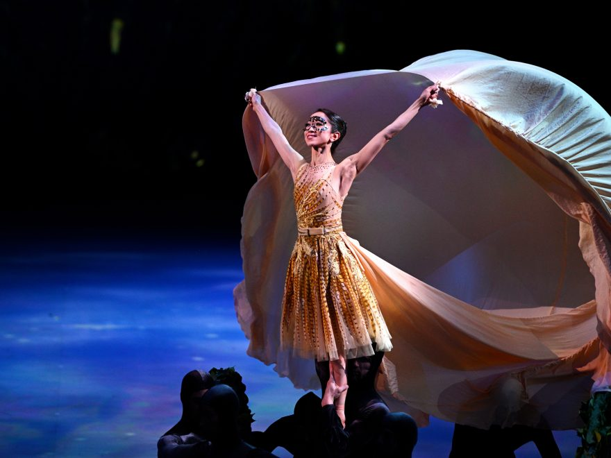 PRESS Erina Takahashi in Cinderella in-the-round. The proscenium arch version of Cinderella will be performed in Manchester and Southampton this autumn © Laurent Liotardo