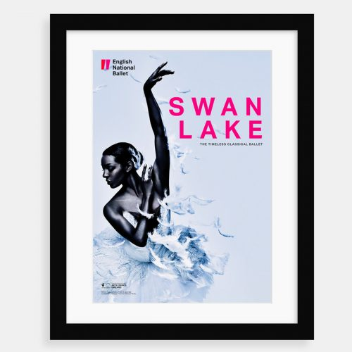 Swan Lake Framed Poster. Dancer: Precious Adams. Photo © Jason Bell. Art Direction and Design: Charlotte Wilkinson Studio.