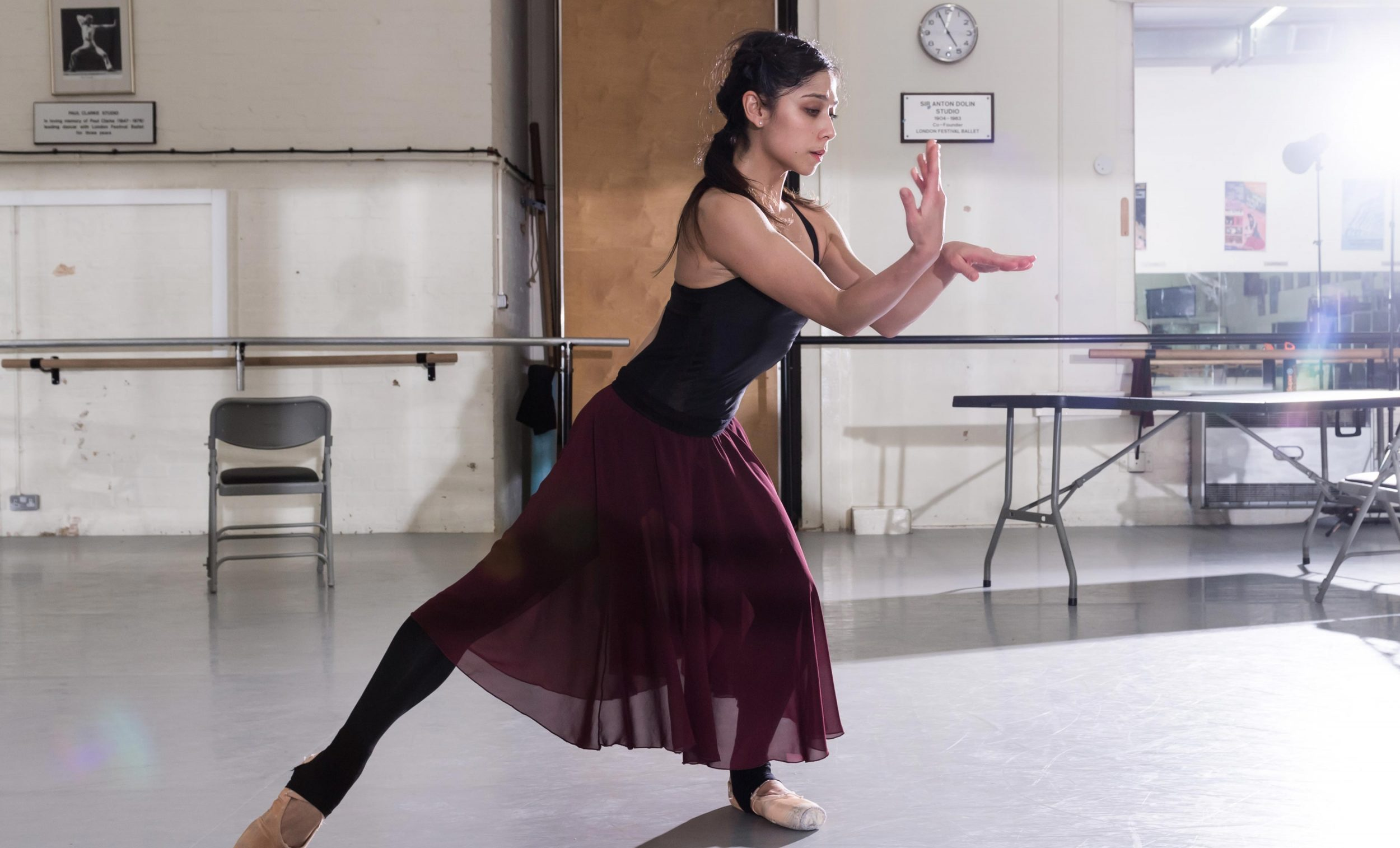 Crystal Costa in rehearsals for Nora © Ian Gavan