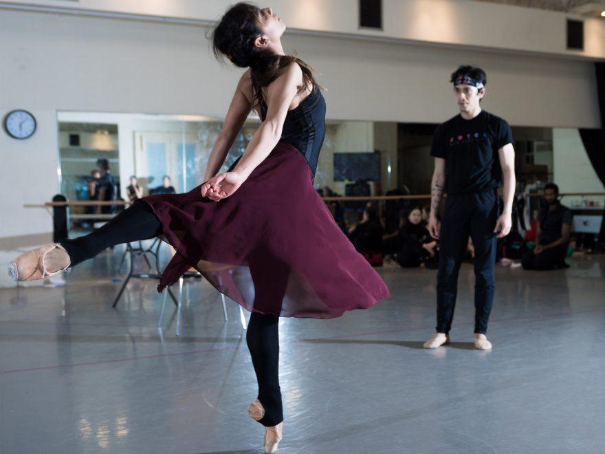 Crystal Costa and Jeffrey Cirio in rehearsals for Nora © Ian Gavan