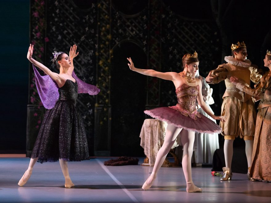 Phoebe Schembri as Carabosse and Alexia Norris as Lilac Fairy in My First Ballet Sleeping Beauty © Photography by ASH