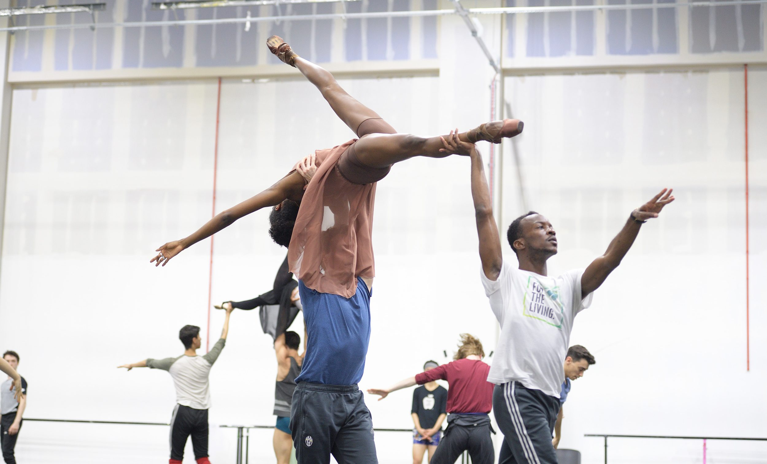Precious Adams and Shevelle Dynott rehearsing Christopher Wheeldon's Cinderella  © Laurent Liotardo