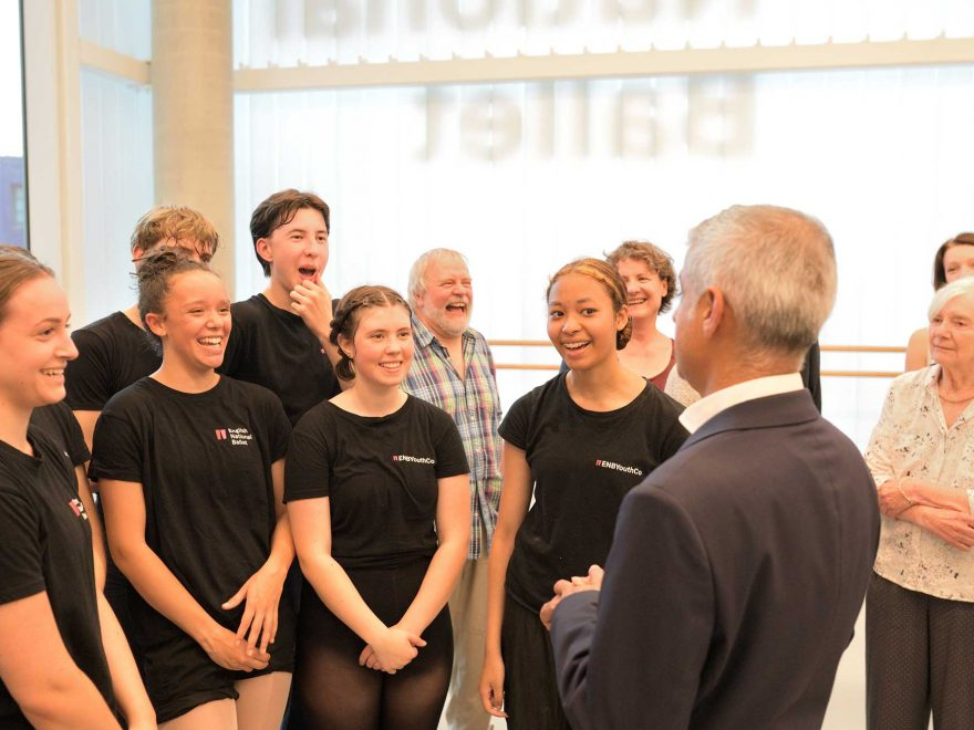 Mayor-of-London-Sadiq-Khan-meets-members-of-ENBYouthCo-and-Dancing-East-at-English-National-Ballet's-new-building-(c)-Laurent-Liotardo