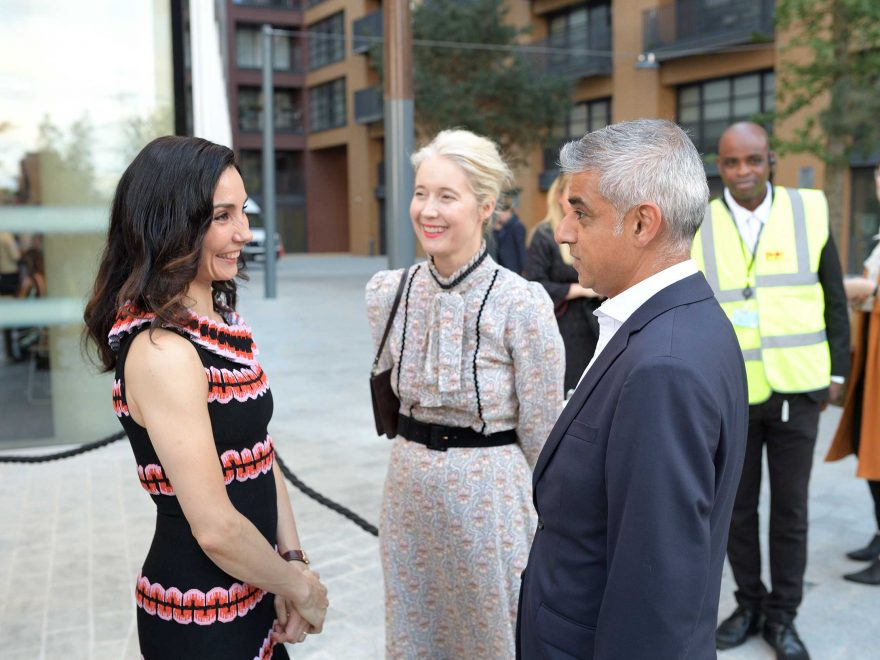 Tamara-Rojo,-Deputy-Mayor-for-Culture-Justine-Simons-and-Mayor-of-London-Sadiq-Khan-at-the-opening-of-English-National-Ballet's-new-building-(c)-Laurent-Liotardo