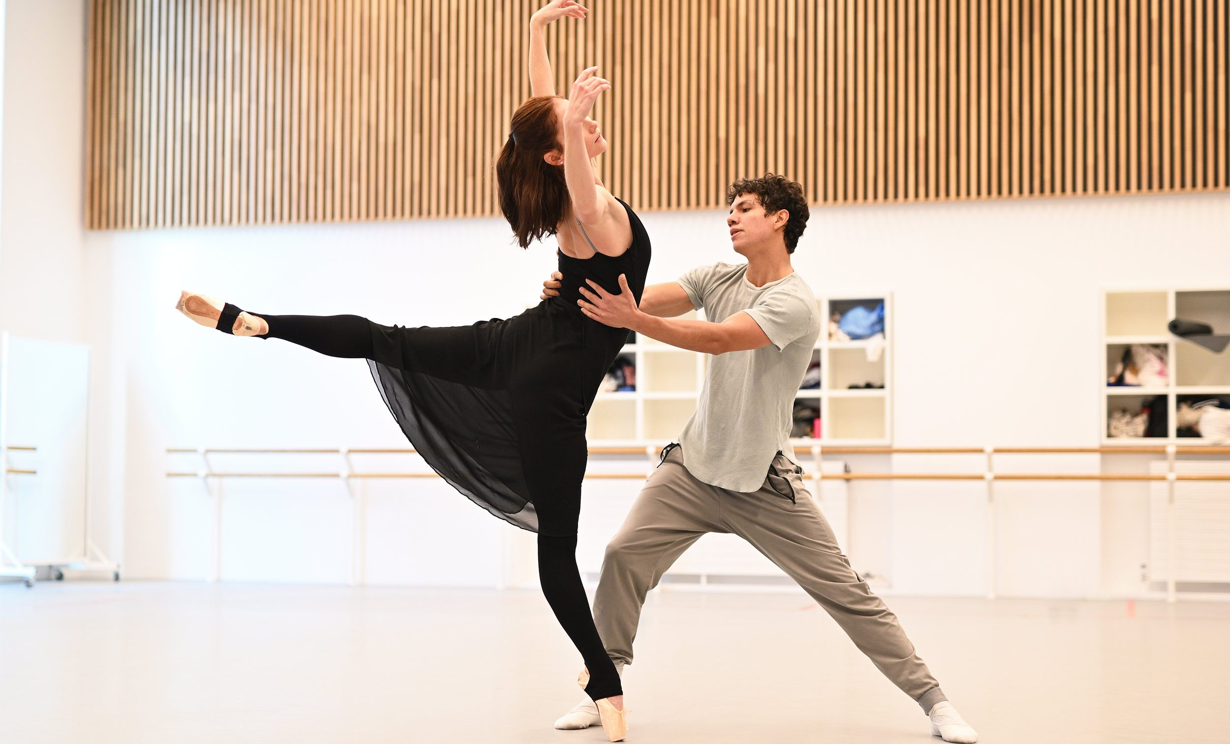 Alison McWhinney and Isaac Hernandez in rehearsals for Yuri Possokhov's 7