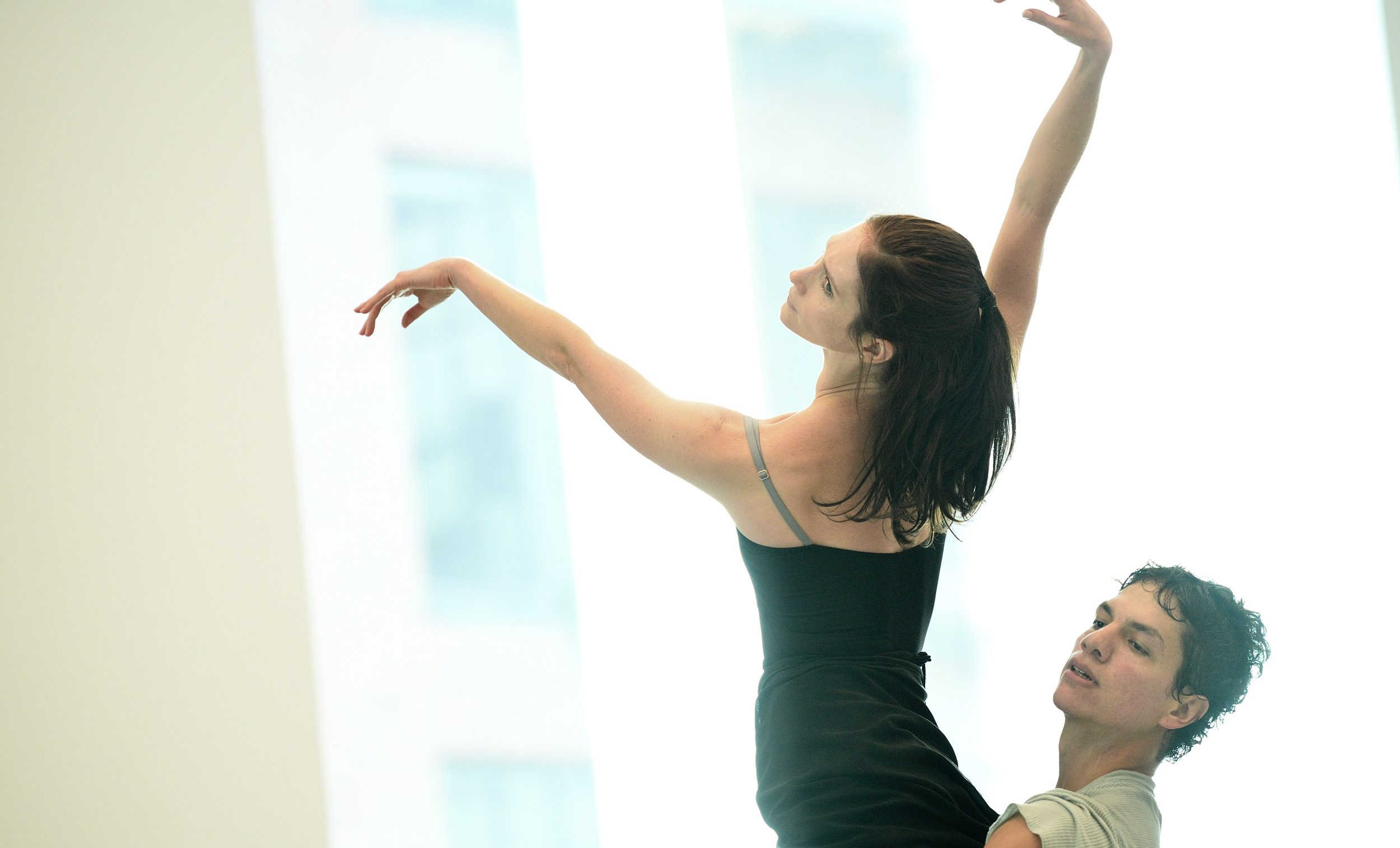 Alison McWhinney and Isaac Hernández in rehearsals for Yuri Possokhov's Senseless Kindness