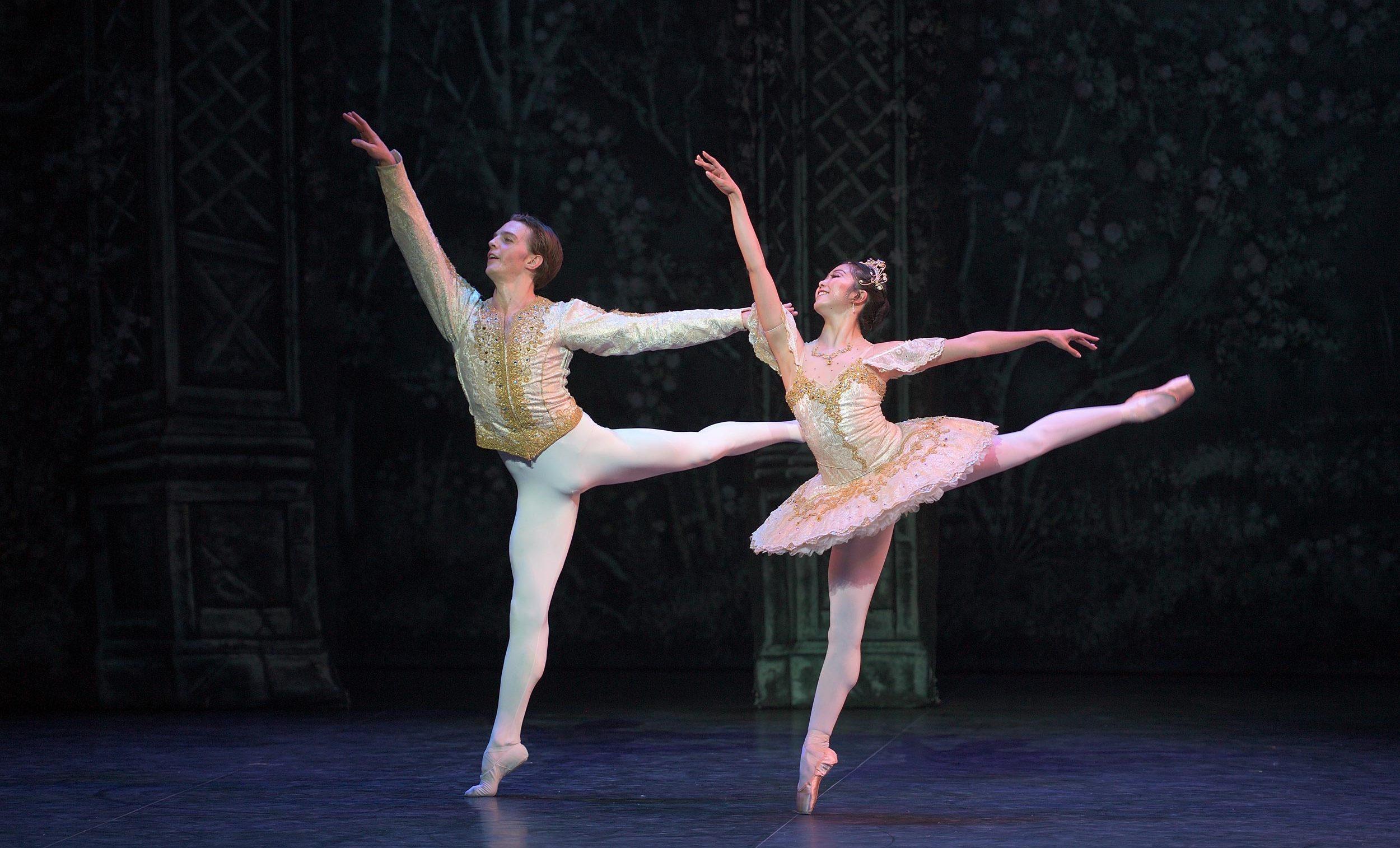 Joseph Caley and Shiori Kase in English National Ballet's Nutcracker